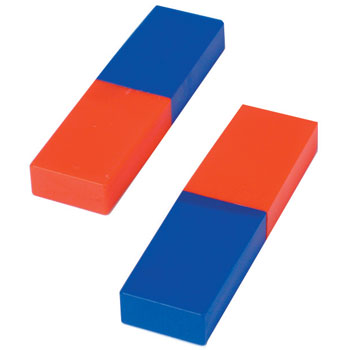 Bar Magnets, Plastic Cased, 80 x 22 x 10mm, Pair
