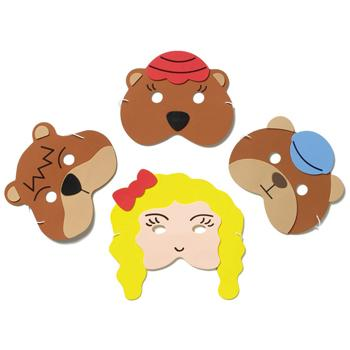 Traditional Story Mask Set, Goldilocks and The Three Bears, Set of 4