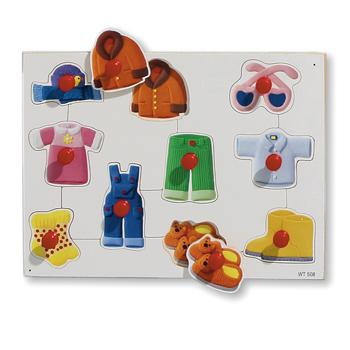 Peg Boards, Clothes, Age 2+, Each