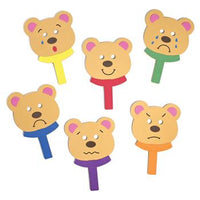 Emotions Bear Masks, Age 3+, Set of 6