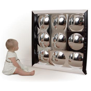 Black & White Range, Soft Frame Bubble Mirror, Age 12 Mths+, Each