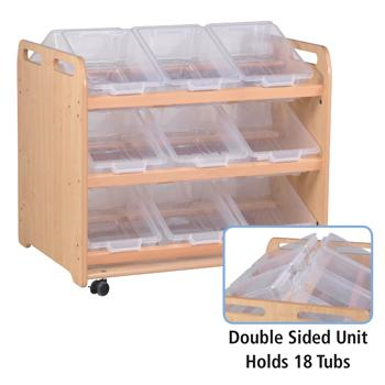 Millhouse Storage, Tilt Tote Storage, 18 Tubs Or Baskets
