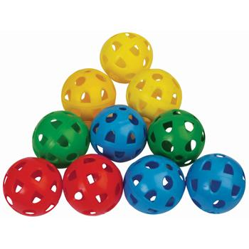 Airflow Perforated Plastic Balls, 70mm Diameter, Pack of 12