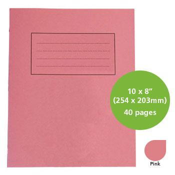 Exercise Books, Manilla Covers, 10 x 8'' (254 x 203mm), 40 Pages