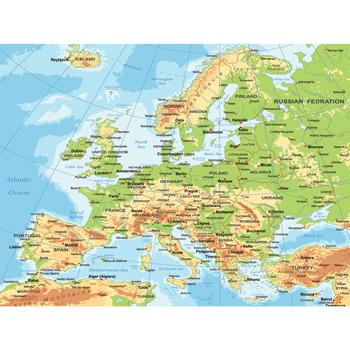 Vinyl Maps for Schools, Europe, Each