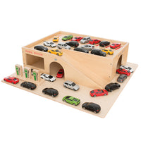 Toy Vehicles and Accessories, Garage and Car Sets, Wooden Garage, Each