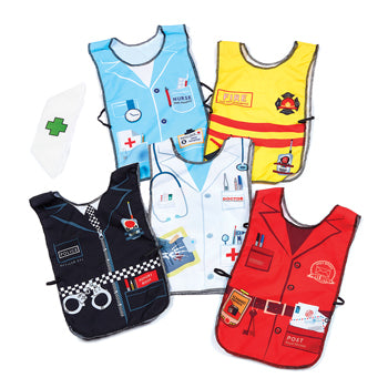 Dressing Up, Tabards, Occupations Tabards, Set of 5