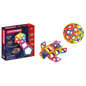 Magformers, 62 Piece Set, Age 3+, Set of 62 Pieces