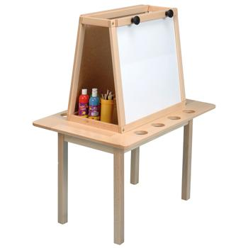 Solid Beech Framed Easels, Magnetic Dry Wipe, 2 Sided - 2 Boards, Each