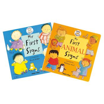First Signing Books, Age 6 Mths+, Set of 2