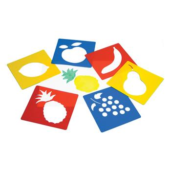 Stencils, Fruit, Pack of 6