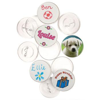 Self-Assembly Badges, Pack of 100