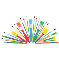 Paintbrush, Assorted Brushes & Dabbers, Pack of 25