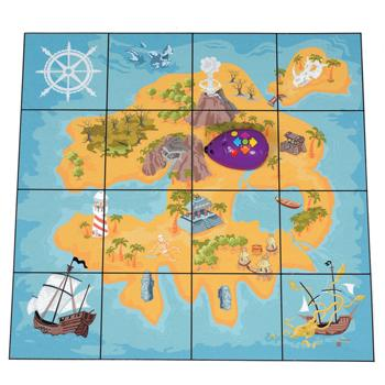 Robot Play Mats, Treasure, 150mm Robots, Each