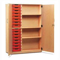 Classroom Storage, Tray Stock Cupboards, Provision for 16 Shallow Trays