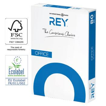 Copier Paper, Multifunctional, Rey 'Office' White Paper, A4, 80gsm, Box of 5 Reams