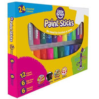 Paint Sticks, Assorted, Pack of 24 x 10g