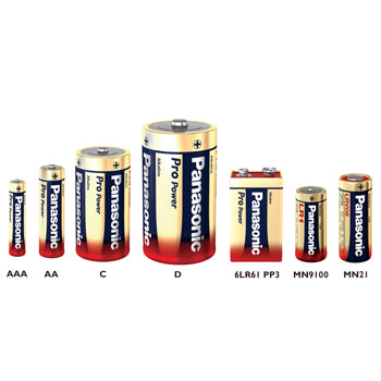 Batteries, Panasonic Alkaline, (AA) LR6 1.5 volts, Pack of 4