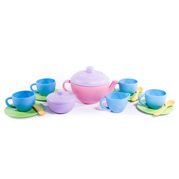 Green Toys, Tea Set, Age 2+, Set of 17 Pieces