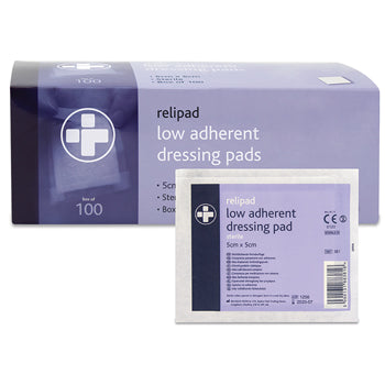 Wound Dressings, Sterile Non-Adherent Pads, 100 x 100mm, Box of 100