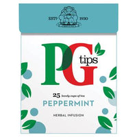 Tea, PG Tips Peppermint, Case of 6 x 25 Bags