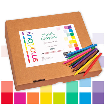 Smartbuy, Plastic Crayons, Hexagonal, Class Pack of 300