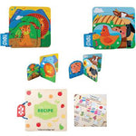 Wooden Book Set, Age 3+, Set of 3