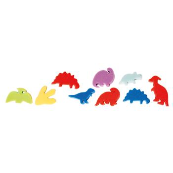Sponge Foam Shapes, Dinosaurs, Pack of 9
