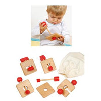 Wooden Lock Puzzles, Set