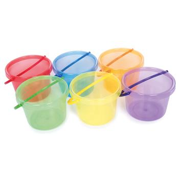 Translucent Colour Buckets, Age 18 Months+, Set of 6