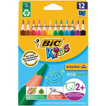 Pencils, Coloured, Triangular, Bic(R) Kids Evolution, Age 2+