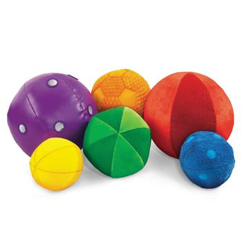 Washable Sensory Balls, Age 3 Mths+, Set of 6