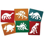 Stencils, Dinosaurs, Pack of 6