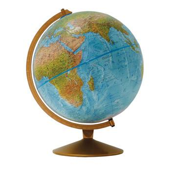 Geography, Globe, Physical, 300mm Diameter, Each