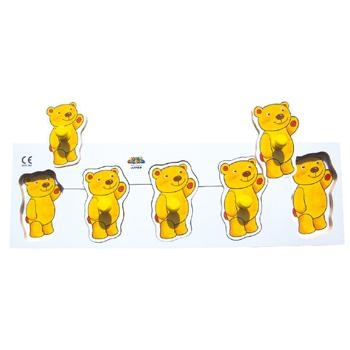 Size Sequencing Puzzles, Teddy, Age 2+, Each