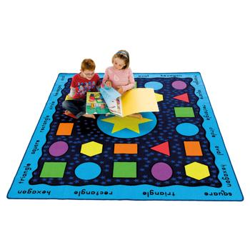 Learning Rugs, Luxury Pile Rugs, Shapes & Words, 2400 x 2000mm, Each
