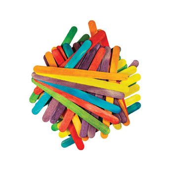 Lollipop Sticks, Assorted Colours, Pack of 1000