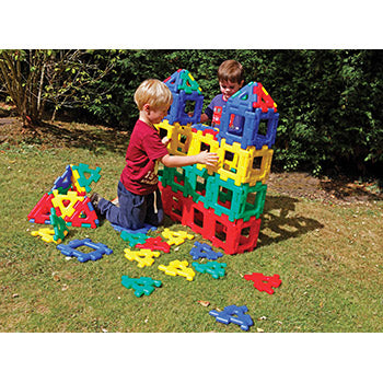 Giant Polydron, Sets, Age 2+, Set of 80 Pieces