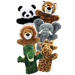 Puppet, Glove, Wild Animals, Set of 6