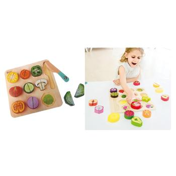 Cutting Fruit & Vegetable Puzzles, Set