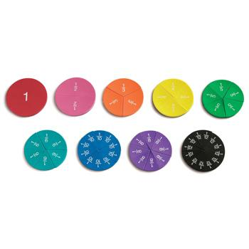Fraction Games, Magnetic Fraction Circles, Set of 51 Pieces