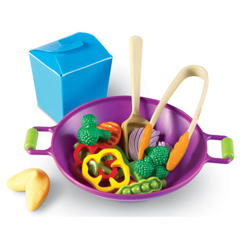 Play Food, Plastic, Stir Fry Set, Age 2-6, Set