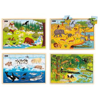 Animals of The World Puzzles, Age 4+, Set of 4