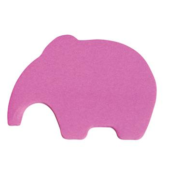 Repositionable Notes, Animal Shapes, Elephant, Pad of 50 Sheets