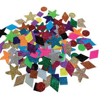 Display Shapes, Glitter Paper Shapes, 10-30mm, Pack of 3000