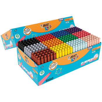 Pens, Washable Fibre Tip, Broad, Bic(R) Visacolour Xl, Assorted, Class Pack of 144
