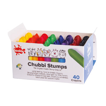 Wax Crayons, Chubbi Stumps, Age 1+, Pack of 40