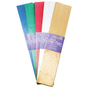Crepe Paper, Metallics Assorted, Pack of 5