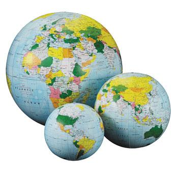 Geography, Globe, Inflatables, 300mm Diameter, Each