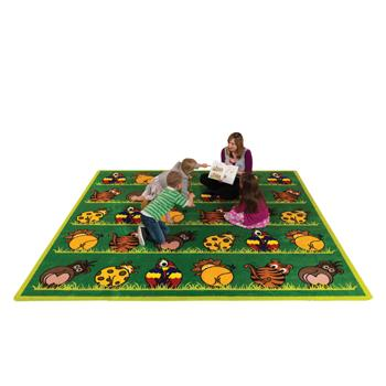 Kit For Kids, Town & Country(TM) Zoo Animals, Carpet, 3000 x 3000mm, Each